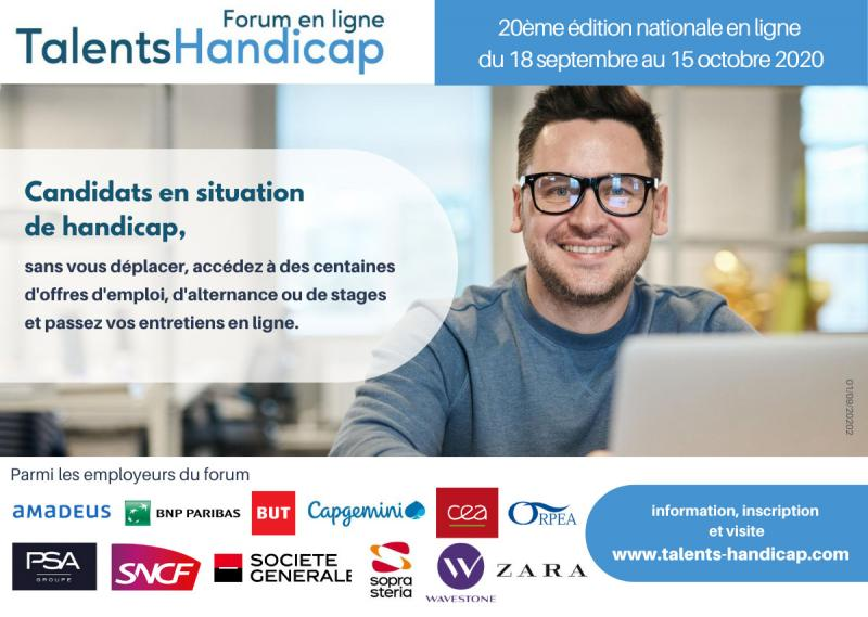 20ème forum en ligne national TalentsHandicap